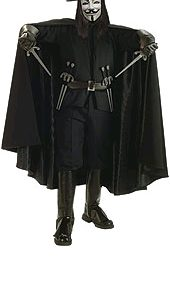 V for Vendetta Deluxe Black Cape | Costume Hire Brisbane | Camelot Costumes