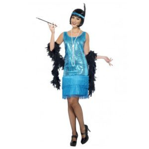Flapper Dress - blue | Costume Hire Brisbane | Camelot Costumes