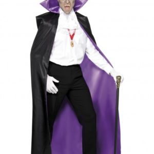 Purple Lined Black Cape | Costume Hire Brisbane | Camelot Costumes