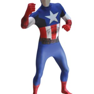 Captain America Skinsuit | Costume Hire Brisbane | Camelot Costumes