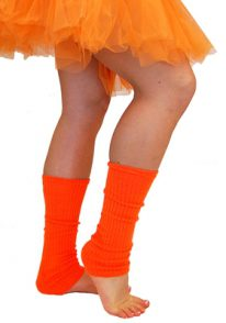 Orange - 80's Leg Warmers | Costume Hire Brisbane | Camelot Costumes