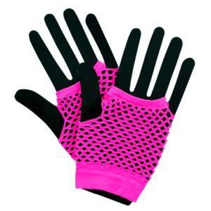 Neon Mesh Gloves - Pink