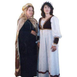 Medieval black/gold and white/maroon ladies