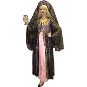 Medieval Pink Black Lady