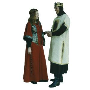 Medieval Red Lady & Cream Brown Knight