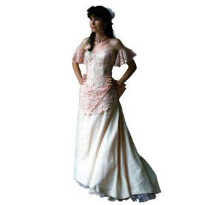 Bustle Dress – Pink