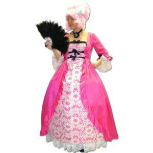 Hoop Dress – Pink & White