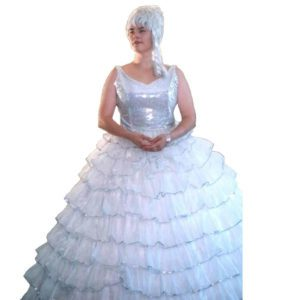 Hoop Dress – White – Big Frills