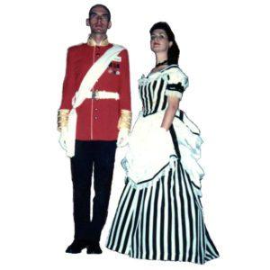 Hoop Dress – black & white