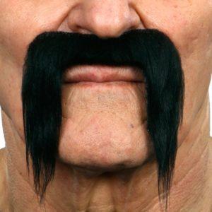 Black Handlebar Mustache