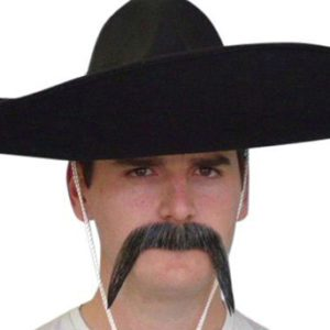 Grey Mexican Mustache | Costume Hire Brisbane | Camelot Costumes