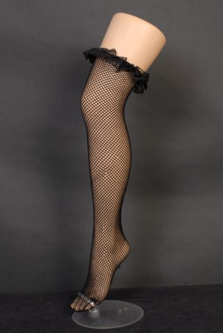 fishnet lace top thigh highs | Costume Hire Brisbane | Camelot Costumes
