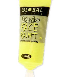 Fluro Yellow Liquid Facepaint 15ML | Costume Hire Brisbane | Camelot Costumes