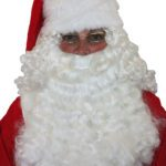 Deluxe Santa half wig and beard | Costume Hire Brisbane | Camelot Costumes
