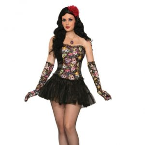 Day of the Dead Corset | Costume Hire Brisbane | Camelot Costumes