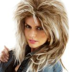 Tina Turner/ Blonde and brown Streaky Mullet | Costume Hire Brisbane | Camelot Costumes