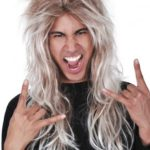 Tommy Long blonde mullet | Costume Hire Brisbane | Camelot Costumes