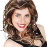 Curly Brown w/ blonde sreaks | Costume Hire Brisbane | Camelot Costumes